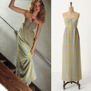 Anthropologie Maple Silk Maxi Dress